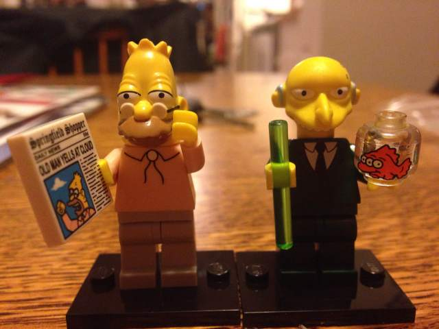 simpsons lego grampa mr burns minifig